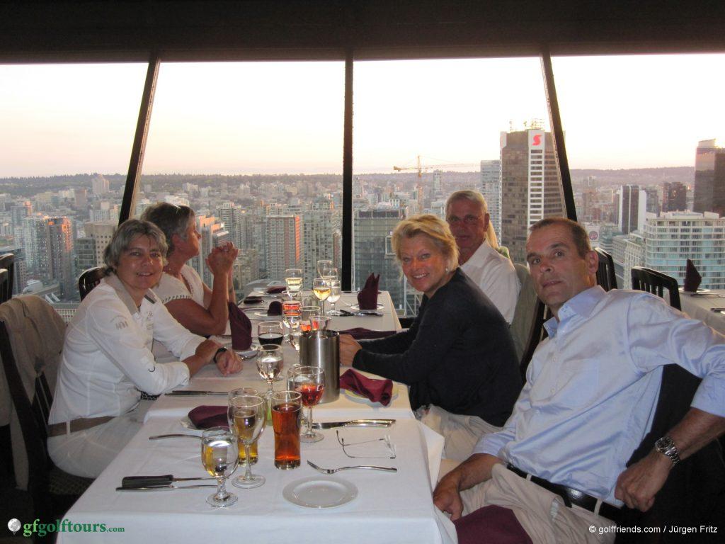 Abendessen im Top of Vancouver Restaurant