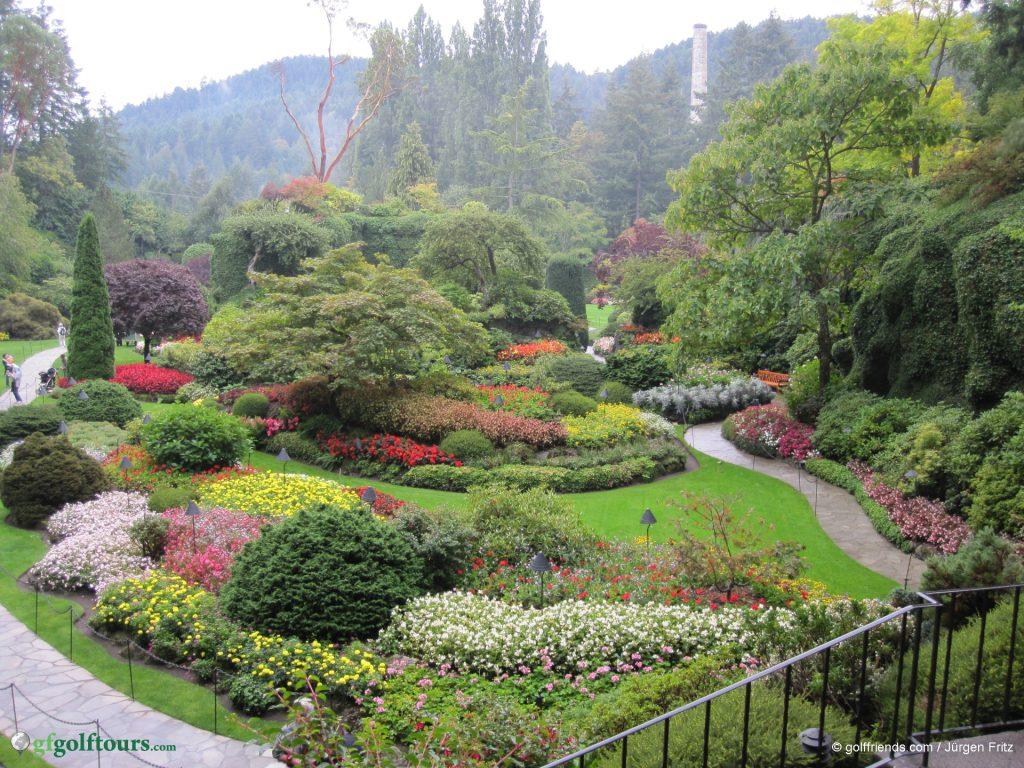 """""""Sunken Gardens"""" in Butchart Gardens."""