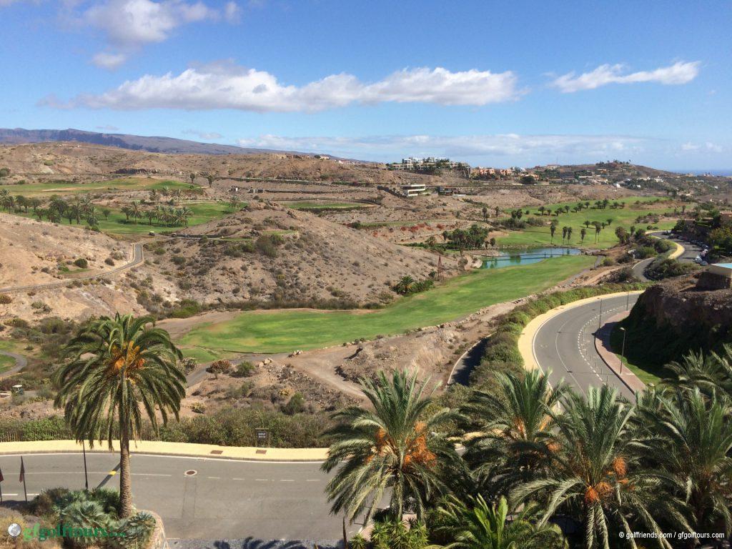 Blick aus dem Sheraton auf den South Course.