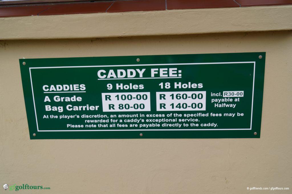 Caddy 12€, Halfway inklusive. Warum diesen Service nicht geniessen?