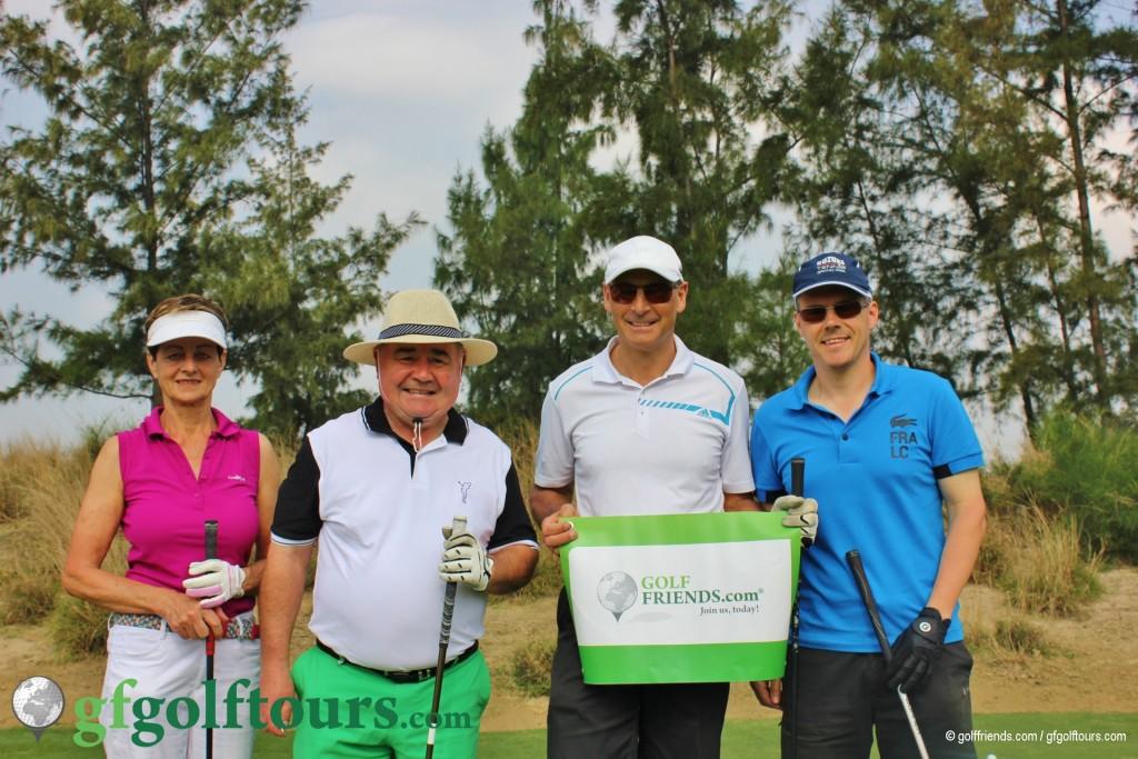Die golffriends: Marianne, Gerhard, Robert und Sandro.