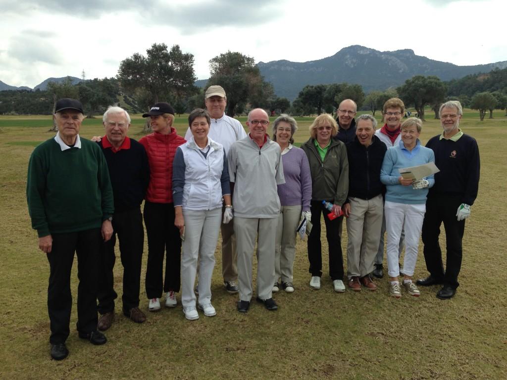 """Die harmonische golffriends-Gruppe der """"golffriends Golfweeks Zypern 2015"""""""