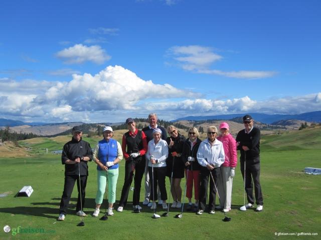 Erneut ist uns das Wetter bestens gesinnt: Die golffriends 2015 im Predator Ridge Resort.