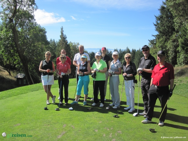 Unsere Gruppe auf Olympic View Golf Course.