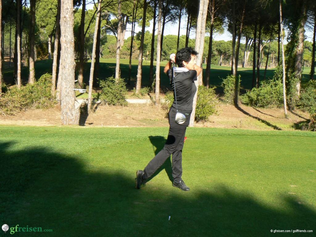 Es wurde ästhetisches Golf gespielt.