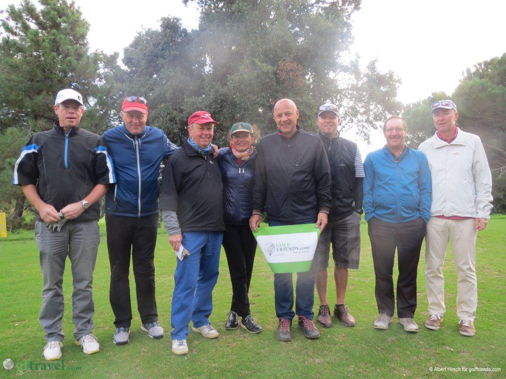 Unsere golffriends-Teilnehmer vor dem letzten Abschlag