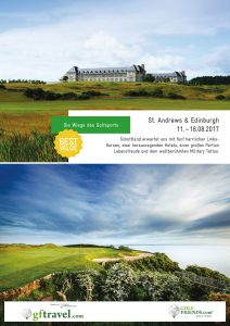 Prospekt-Cover St. Andrews & Edinburgh 2017