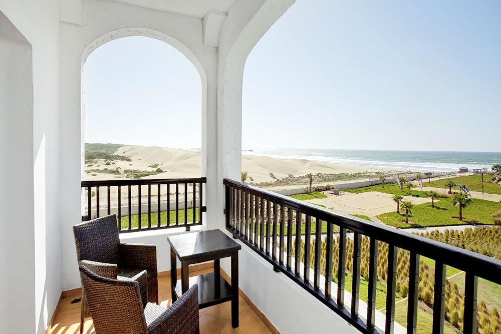 Single-Golfreisen: Agadir (Robinson Club, Ausblick vom Balkon auf das Meer))