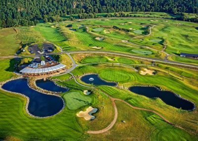 Golf-Gruppenreisen-Prag-Panorama-Golf-Luftaufnahme